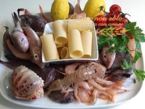 Paccheri ripieni di rana pescatrice e gamberi