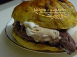 pan gocciole con il gelato