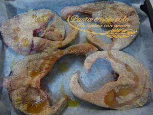 Pesce spada al forno con semi di sesamo e limone