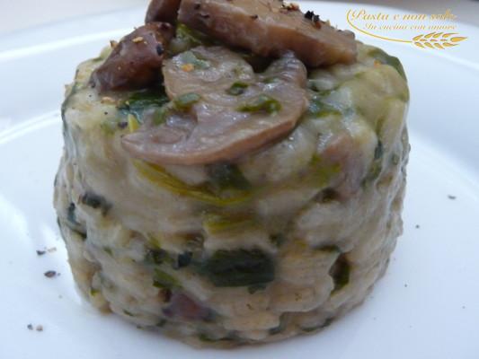 Risotto funghi e spinaci