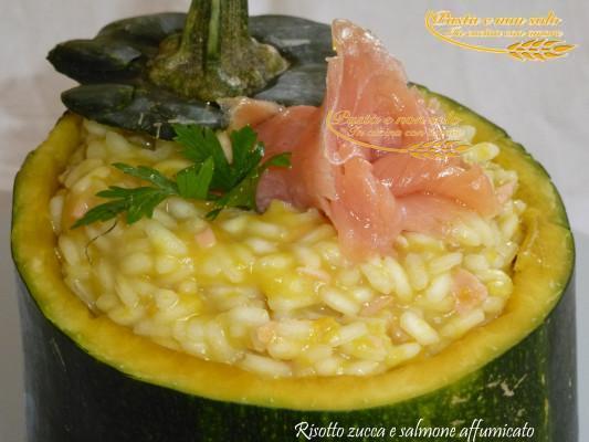 risotto zucca e salmone affumicato