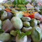 Zuppa di fave fresche con pancetta, cipolla e menta
