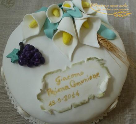 Torta prima comunione giacomo pasta e non solo for Decorazione torte prima comunione