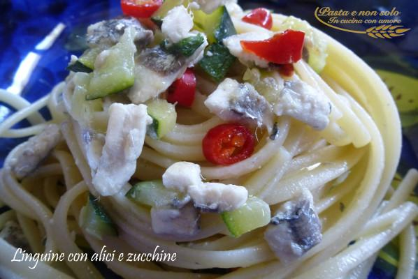 linguine con alici e zucchine