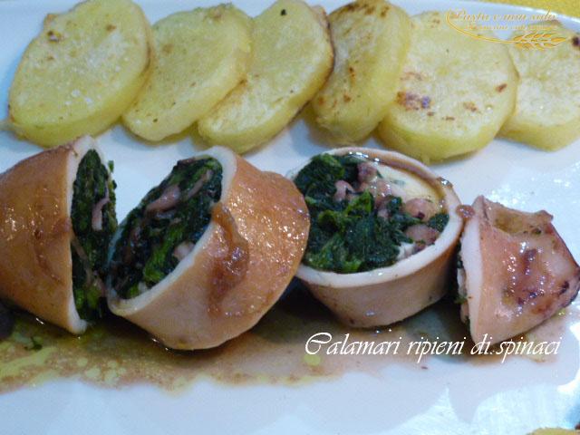 calamaro ripieno di spinaci1