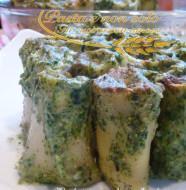 paccheri ripieni con besciamella agli spinaci