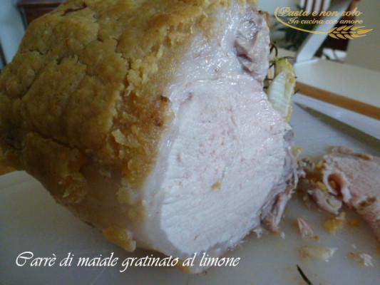 carrè di maiale grtinato al limone1