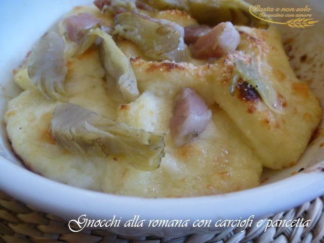 gnocchi alla romana con carciofi e pancetta 1
