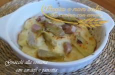 gnocchi alla romana con carciofi e pancetta 2