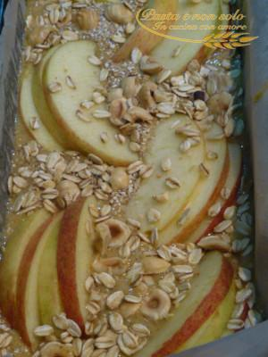 torta di mele avena e nocciola
