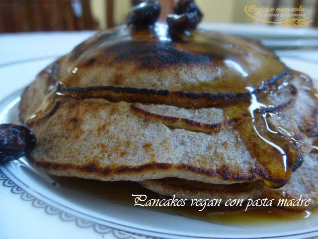 pancakes vegana con pasta madre