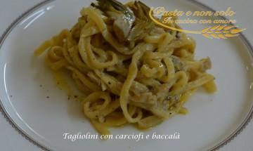 tagliolini con carciofi e baccalà2
