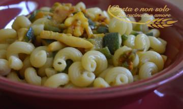 pasta totani zucchine e zafferano2