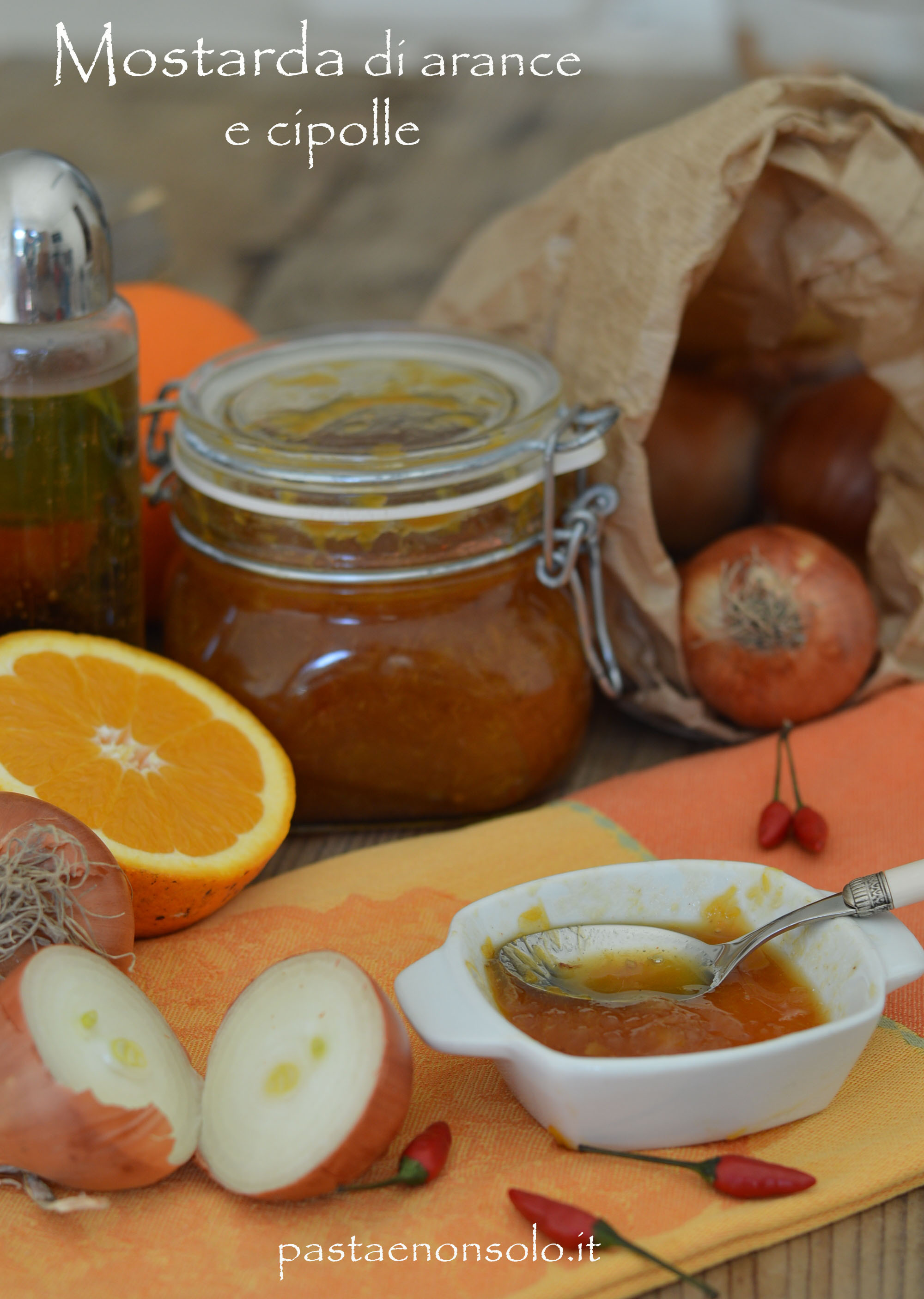Mostarda arance e cipolle