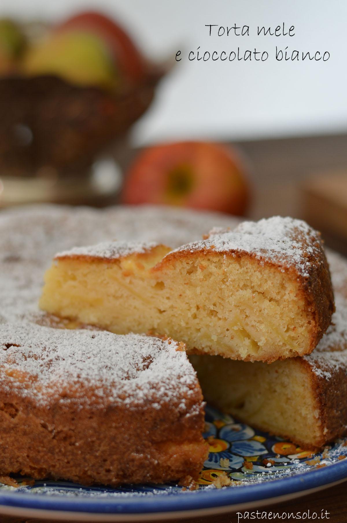 torta mele e cioccolato bianco