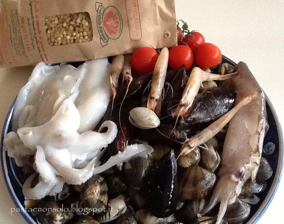 Fregola sarda ai frutti di mare