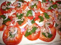 Rotolo di mozzarella con pomodoro e tonno