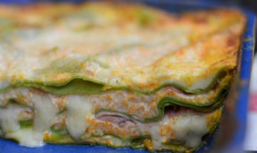lasagna verde zucca ricotta besciamella