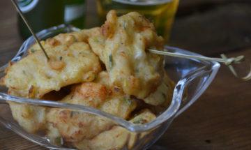 frittelle croccanti zucchine e gamberi
